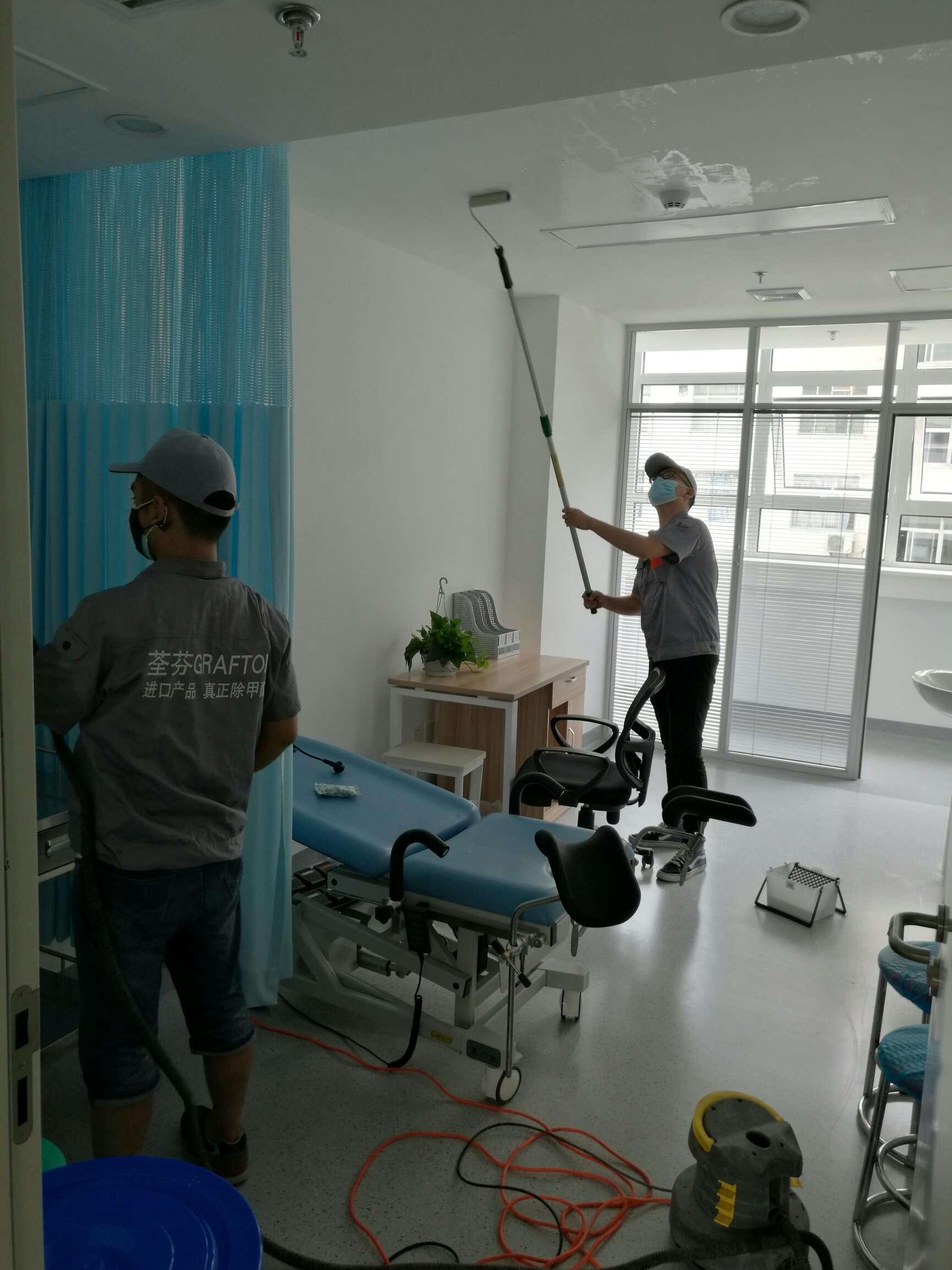 陜西省婦幼保健院頂面滾筒施工