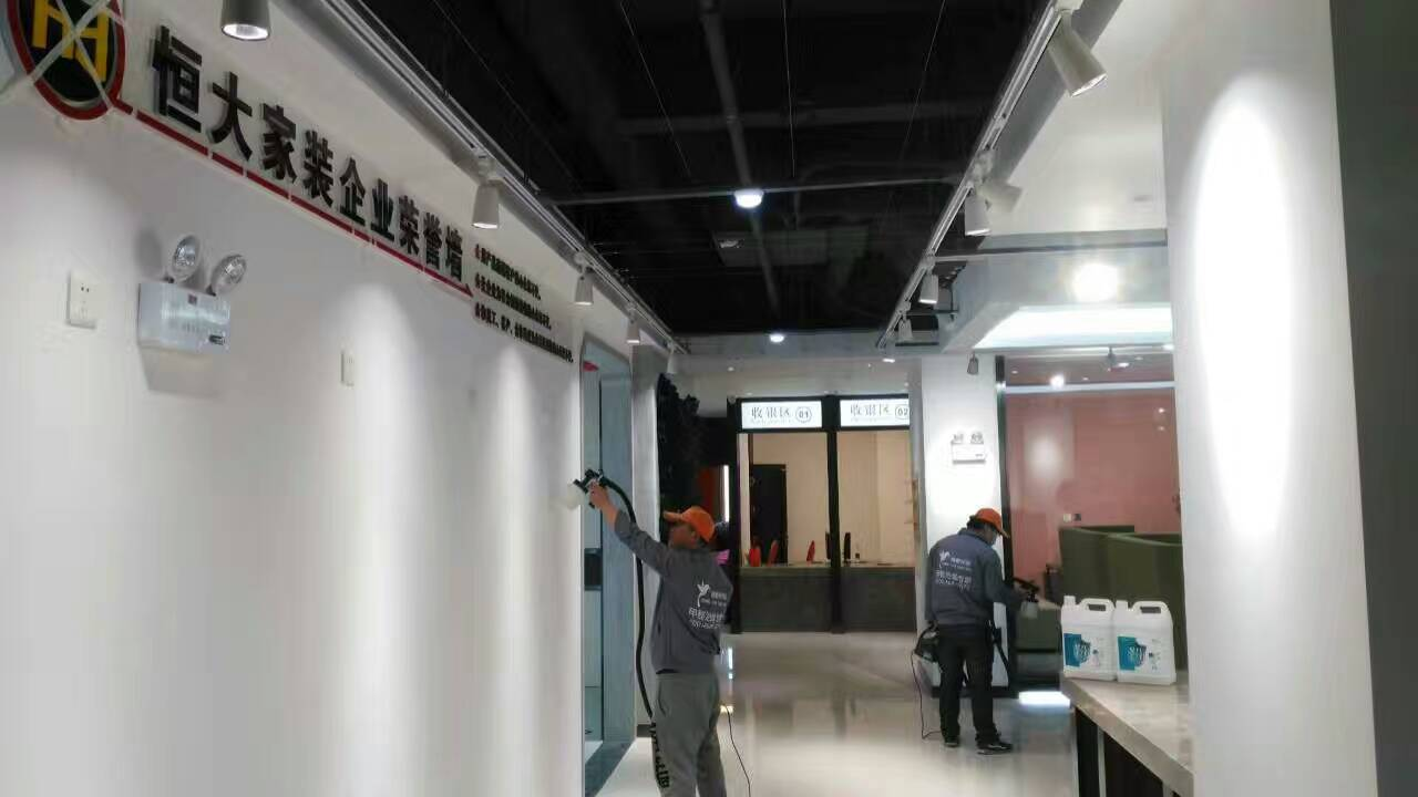 恒大裝飾辦公室墻面施工