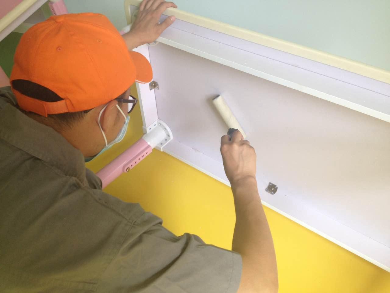 木柜重點區域施工處理
