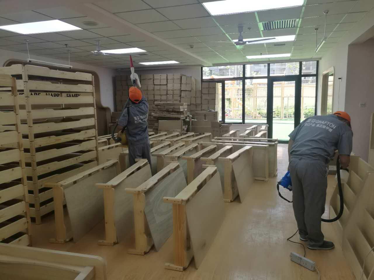 孩子木床全方位施工