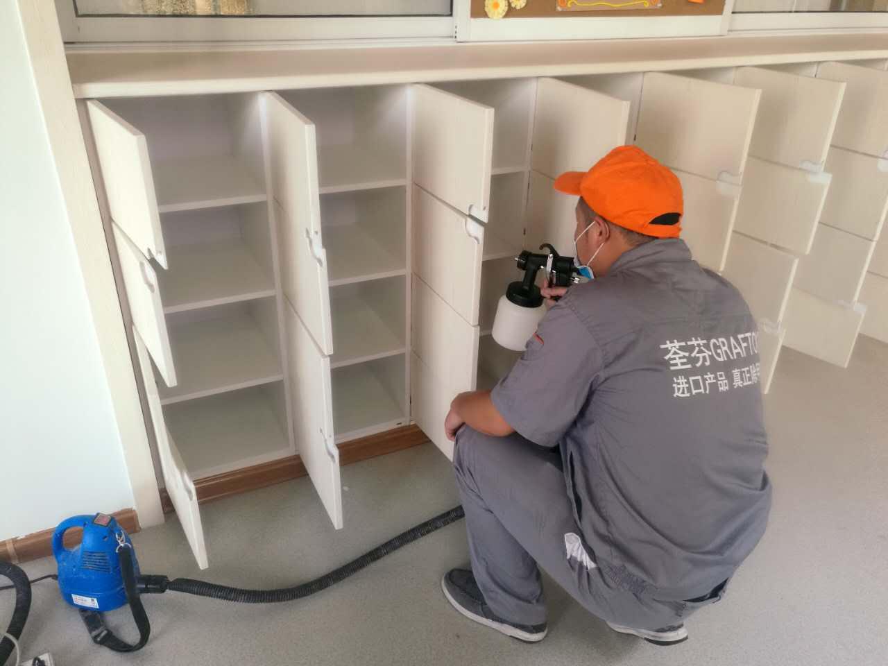 木柜隔档区域重点喷涂